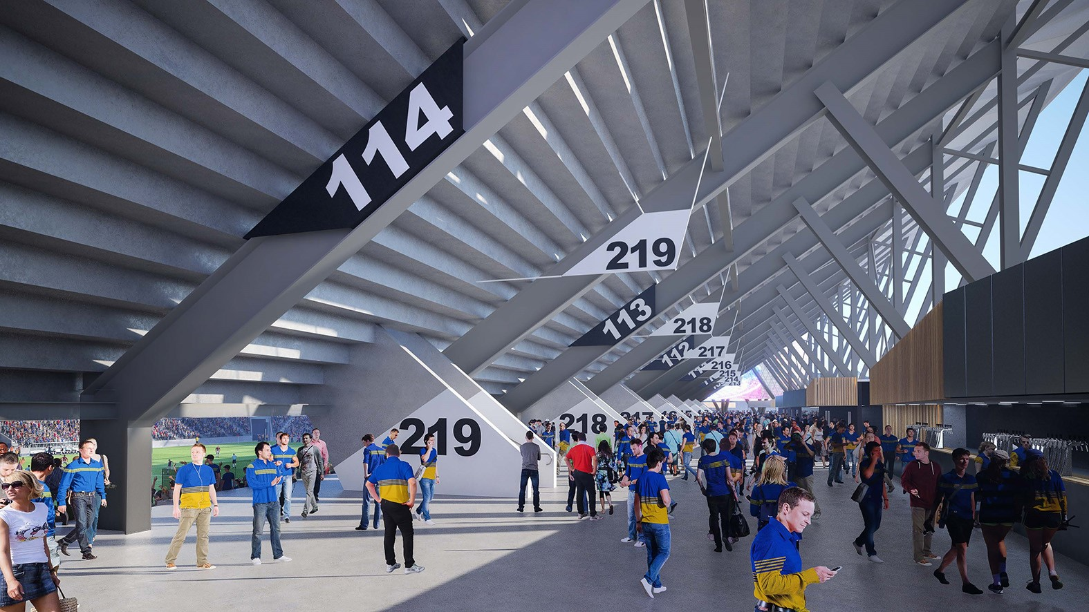 Artist Impression of concourse