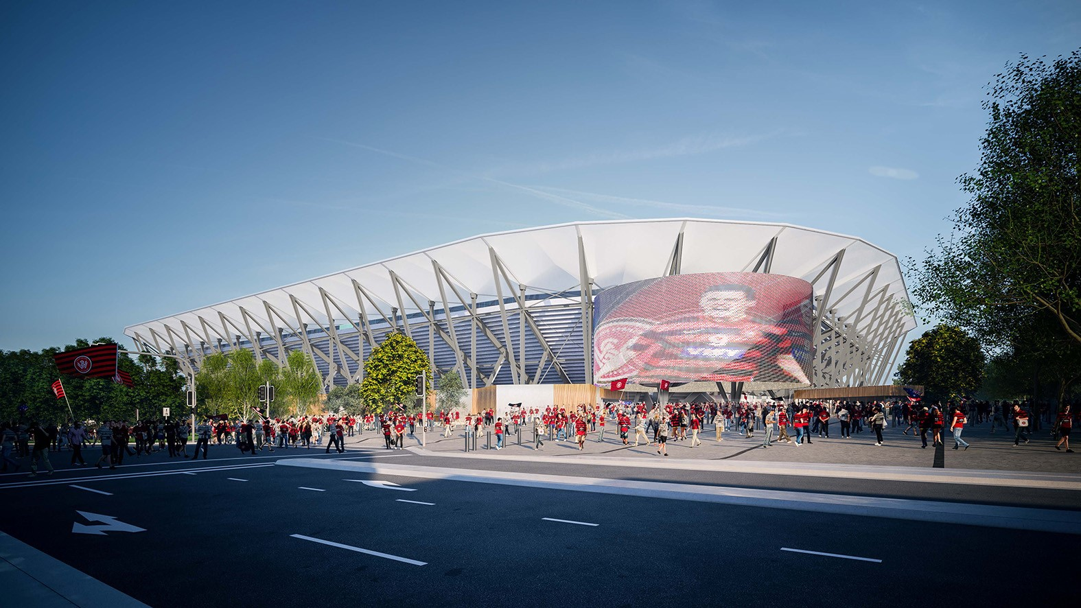 Artist Impression of North-Eastern side of stadium