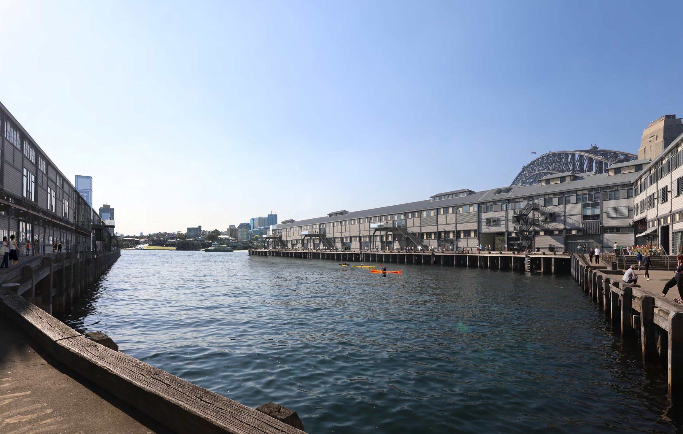 View of Walsh Bay Arts and Cultural Precinct